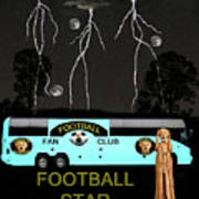 Scream Football Star Art Print by Eric Kempson