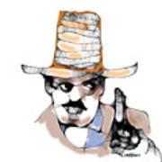 Scribbler Cowboy Art Print