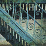 Scrolled Staircase By H H Photography Of Florida Art Print