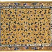 Scrolling Lotus Art Print