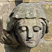 Sculpted Head Of Woman. Art Print