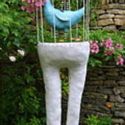 Sculpture Birds Cage And Legs Art Print