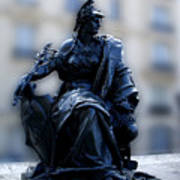 Sculpture In Front Of Orsay Museum Paris France Art Print