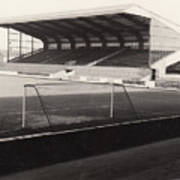 Scunthorpe United - Old Showground - East Stand 1 - Bw - 1960s Art Print
