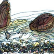 Sea And Rocks Landscape Art Print