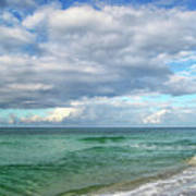 Sea And Sky - Florida Art Print by Sandy Keeton