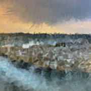 Sea And Stones Art Print