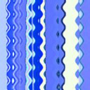 Sea Blue Wave Tapestry Art Print