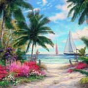 Sea Breeze Trail Art Print