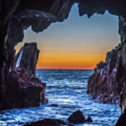 Sea Cave Sunset Art Print