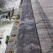 Sea Cliff Seawall Boardwalk Art Print