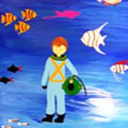 Sea Diver Art Print