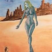 Sea Goddess In Utah Art Print
