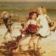 Sea Horses Print by Frederick Morgan
