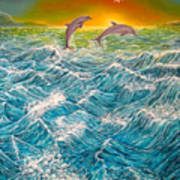 Sea In Action Art Print