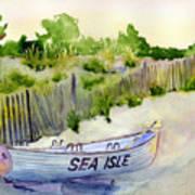 Sea Isle Rescue Boat Art Print