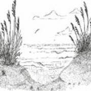 Sea Oats Art Print