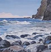 Sea Pounded Stones At Crackington Haven Art Print