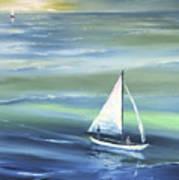 Sea Row Art Print