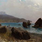 Sea Shore Crimea Art Print