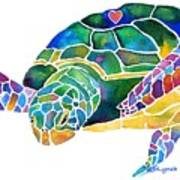 Sea Turtle Celebration 4 Prints Only Art Print