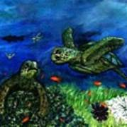Sea Turtle Rendezvous Art Print