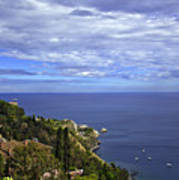 Sea View From Taormina Art Print