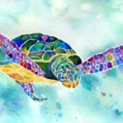 Sea Weed Sea Turtle  Art Print