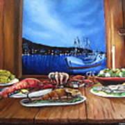 Seafood Feast Art Print