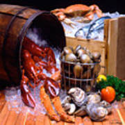 Seafood Fresh Art Print by Vance Fox
