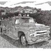 Seagrave Gmc Firetruck Art Print