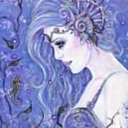 Seahorse Dreams Mermaid Art Print