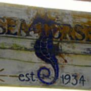 Seahorse Est. 1934 Art Print