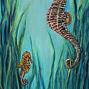Seahorse Refuge Art Print