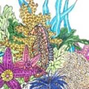 Seahorse Sanctuary  Art Print