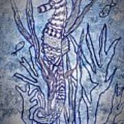 Seahorse World Art Print