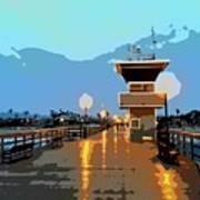 Seal Beach Evening  Art Print