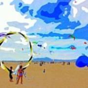Seal Beach Kite Fly Art Print