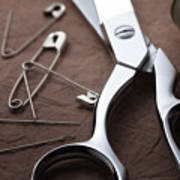 Seamstress Scissors Art Print