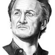 Sean Penn Art Print