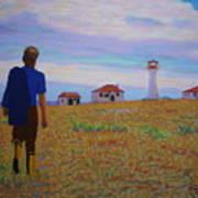 Sean's Visit To Cross Island Lighthouse Art Print