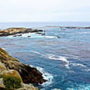Seascape From Point Lobos State Reserve Near Monterey-california  Art Print
