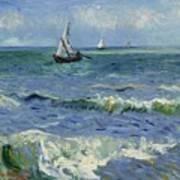 Seascape Near Les Saintes Maries De La Mer Arles June 1888 Vincent Van Gogh 1853  1890 Art Print