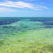 Seascape - The Colors Of Key West Art Print