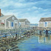 Seaside Cottages Art Print