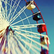 Seaside Ferris Wheel Art Print