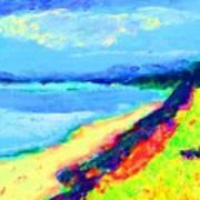 Seaside Green Art Print