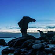 Seaside Rock Formations At Daybreak Art Print
