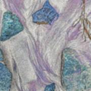 Seaside Rocks And Garnet Sand Art Print