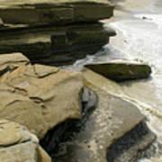 Seaside With Rocks On Left Art Print